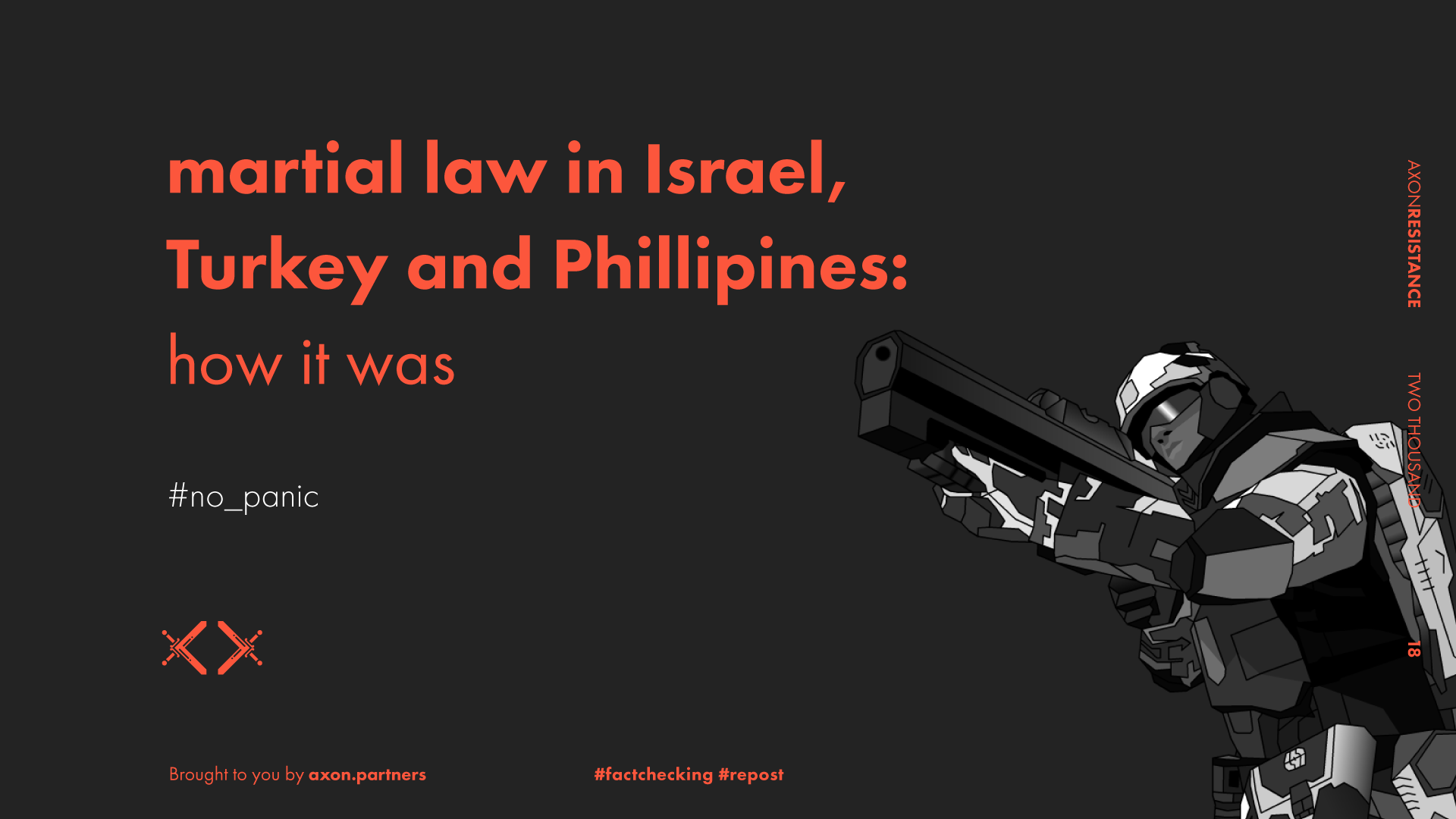 martial law in Israel, Turkey and Philippines